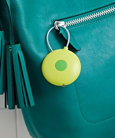 Lulalu Kiwi & Apple Green Flashlight Keychain | zulily . $6.99 $10.00 : Product Description:  Stop fumbling in dim lighting looking for keys, because this LED light provides illumination at the touch of a button. Attach keys to the corded metal wire and never break a nail while changing them again. Or, bypass the keys and attach to the strap of a bag for preparedness at any time.      2.25'' W x 4'' H  .     Plastic / metal  .     Imported