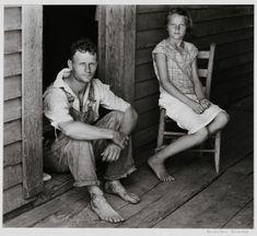 Walker Evans, Floyd and Lucille Burroughs, Hale County, Alabama, 1936.