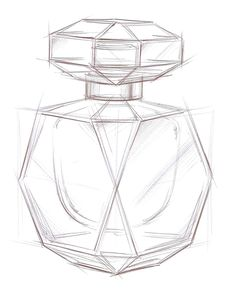how to draw a 3d perfume bottle - Google zoeken