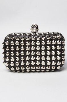 #studded #bag #clutch #skull