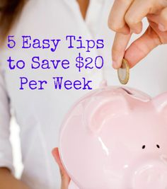 Looking to add a little extra money to your bank account? Use these 5 easy tips to save $20 per week!