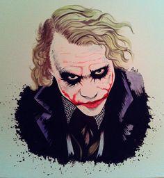 #joker #watercolor #illustration #ilustracion #draw #art #acuarela