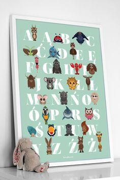MINT poster with the polish alphabet and FUNNY by Pomyslownia, zł80.00