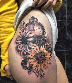 Hip Thigh Tattoos, Tattoos For Women Half Sleeve, Best Tattoos For Women, Baby Tattoos, Sleeve Tattoos For Women, Tatoos, Disney Sleeve Tattoos, Half Sleeve Tattoos Designs, Tattoo Designs