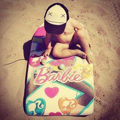 I'm a barbie -surfing- girl. (Semi-cit)