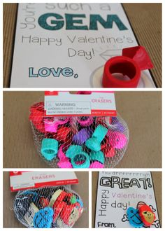 13 Great Non-Food Valentine Ideas-with printables Paige wants to do the rings!