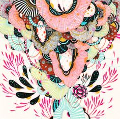 Afloat by Yellena James Yellena James, Wall Art Prints, Fine Art Prints, Art Drawings For Kids, Pen And Watercolor, Giclee Print, Print Print, Prints For Sale, Abstract Art