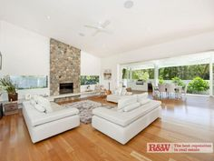 Stone fireplace!!! A must for the next home  Real Estate For Sale - 1 Banksia Avenue, Noosa Heads, QLD