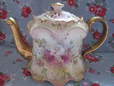 SF Co Royal Crown Devon Teapot Vintage Antique China Tea Pot Shabby Chic | eBay