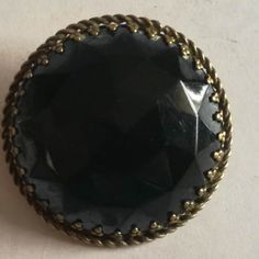 Round Decorative Black Brooch with Brass Backing Brooch Dimensions +/- . 35 x 35 (mm) : x (inch) Brooch Weight +/- . 12 g : ounces Arts And Crafts, Brooch, Brass, Jewellery, Decor, Jewels, Decoration, Jewelry Shop, Craft Items