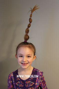 Truffala Tree Crazy Hair Tutorial - Inspiration Made Simple Truffala Tree Crazy Hair Tutorial - Crazy Hair Day Crazy Hair Day Girls, Crazy Hair For Kids, Crazy Hair Day At School, Days For Girls, Crazy Hair Days, Crazy Day, Social Media Trends, Little Girl Hairstyles, Cute Hairstyles