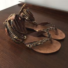 Gladiator Sandals Gladiator Sandal with Beading and embellishments. Super cute and comfortable. Size 9 Zigi Soho Shoes Sandals