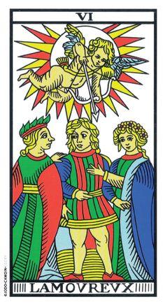 The Lovers - Tarot de Marseille (Camoin-Jodorowsky) Tarot Card Decks, Tarot Cards, Relationship Tarot, The Lovers Tarot Card, Tarot Significado, Le Tarot, Tarot Gratis, Tarot Spreads, Major Arcana