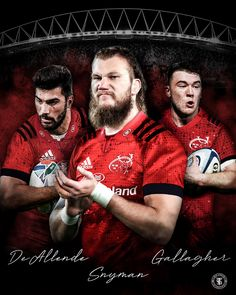 Damien De Allende, RG snyman and Matt Gallagher are all on their way to munster at the start of the 2020 season Sports Graphics, Seasons, Movies, Movie Posters, Films, Film Poster, Seasons Of The Year, Popcorn Posters, Cinema
