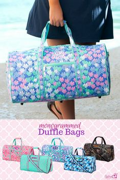 Moroccan /& Plaid Ladies Workout Bag Personalized Front