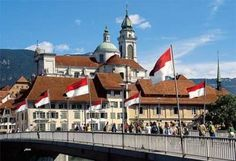 Solothurn - not well heard of but beautiful town.