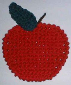 apple coaster ~ free pattern