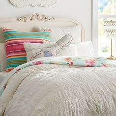 Junk Gypsy Crocheted Lace Duvet Cover + Sham #pbteen