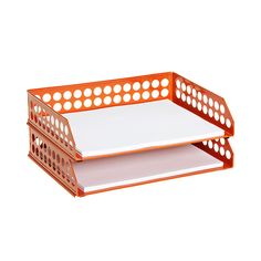 Circuit Letter Tray Orange