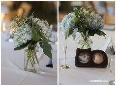 hydrangea floral centerpieces for garden wedding