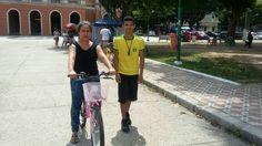 Expectativas superadas em um dia e algumas horas, nunca tinha aprendido a andar de Bicicleta e em questão de tempo aprendeu no mesmo dia, Parabéns a aluna e ao Bike Anjo Daniel