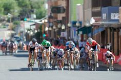 Pro Women's cyclist Clara Hughes of Pactimo, far right in red jersey, won the Downtown Criterium in Stage 4 of the 2011 SRAM Tour of the Gila last year. (Sun-News file photo)