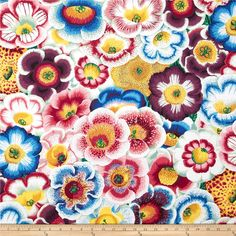 Kaffe Fassett Spring 2014 Collective Water Gloxinia's Nature