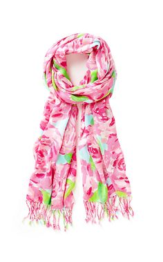 The Lilly Scarf - First Impression is a great way to add a pop of print to your look. This scarf is ideal for travel because the it packs well and is ready to wear all the time.