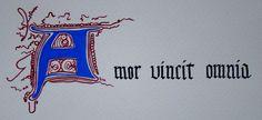 Amor Vincit Omnia (Love Conquers All).