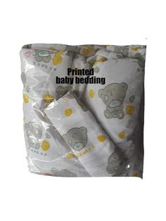 Printed cotton Tatty teddy comforter including pillow case