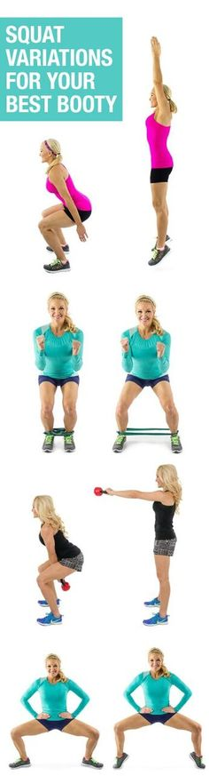 10 Squat Variations to Tone & Tighten Your Quads and Glutes! #buttworkout #lowerbody #fitness