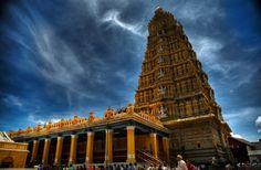 Chamundeshwari Temple, Chamundi Hill, Mysore, Karnataka, India  http://3.bp.blogspot.com/-odgpISRPoMw/Tyly9559vKI/AAAAAAAACww/urk9HEIV238/s1600/Sri%2BChamundeshwari%2BTemple,%2BMysore,%2BKarnataka.jpg