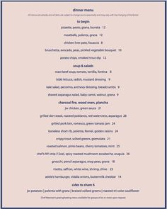 The Southern Steak  Oyster Dinner Menu  Nashville Restaurant