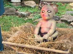 Every neighborhood should have a Zombie Jesus nativity scene! Make it so! - VIDEO - http://holesinthefoam.us/conservative-christians-whine-about-mans-zombie-nativity-scene-town-fines-him-500-a-day-video/