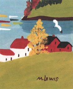 Items similar to Houses and Tree, Maud Lewis Pattern Two Sizes Small and Large, Rug Hooking Pattern Only on Etsy Maudie Lewis, Nocturne, Rug Hooking Patterns, Alternative Art, Naive Art, Canadian Artists, Outsider Art, Artist At Work, Female Art