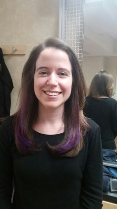 Long layers with face framing + purple umbre  #Supercuts 101 SUMMER  STREET