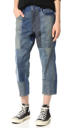 6397 Patchwork Shorty Jeans