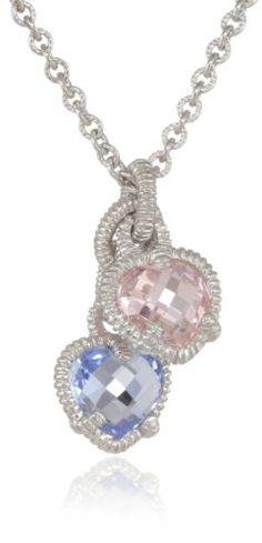 "Judith Ripka ""Linen"" Silver Twin Heart Pink and Blue Pend... https://www.amazon.com/dp/B0091T2LZI/ref=cm_sw_r_pi_dp_eMnzxbH3V8A3G"