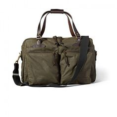 Filson 48 hour duffle otter green ($539) ❤ liked on Polyvore featuring bags and luggage