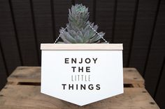 Enjoy the little things wall hanging card by PapermintStudio