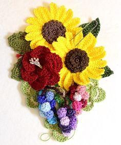 Bag Charm cinque +1 girasole accessori crochet la seule