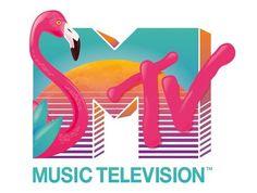 New Retro Wave, Retro Waves, Logo Design Trends, Best Logo Design, Vaporwave, Flamingo Logo, 80s Logo, 90s Design, Rock Poster
