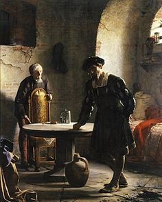 The Imprisoned Danish King Christian II by Carl Heinrich Bloch