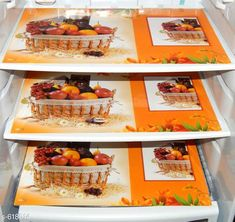 Checkout this latest Fridge Mats_0-500 Product Name: *LooMantha PVC Refrigerator Drawer Mat, Pack of 3 * Material: PVC Laminated Size: (L x B) - 11.5 in x 18 in Description: It Has 3 Pieces Of Fridge Drawer Mats Work: Printed Country of Origin: India Easy Returns Available In Case Of Any Issue   Catalog Rating: ★4 (1260)  Catalog Name: Elite PVC Refrigerator Drawer Mats Combo Vol 5 CatalogID_69312 C131-SC1624 Code: 131-618014-702