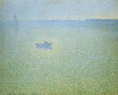 / In the morning, La Seine. / By Charles Angrand, Charles Angrand, Coastal Art, Close Image, Artist Art, Under The Sea, Impressionism, In This World, Modern Art, Canes