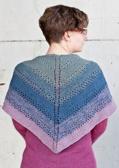 Cascade Yarns Blog...shawl that requires only 3 skeins of fingering. I could use my lavender, ecru, and sage lace yarn instead. Or, if you had decent-sized leftover skeins of fingering, you could do narrower stripes but lots more colors. Wouldn't that be fun?