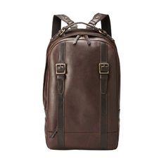 Estate Top Zip Backpack Color: DARK BROWN Fossil. $278.00