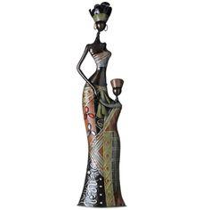 figura decorativa mujer africana