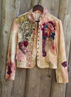 Anna Karenina jacket - ornate romantic jacket, bohemian glamour,  altered couture, embroidered and beaded details