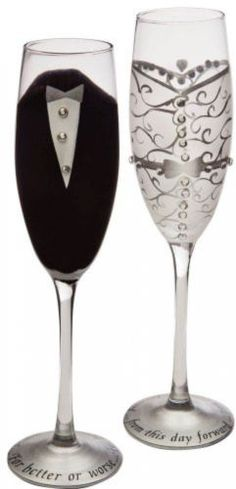 Set of 2 #handpainted #bride and #groom champagne toasting flute glasses 9 ,  View more on the LINK: http://www.zeppy.io/product/gb/2/141951980419/